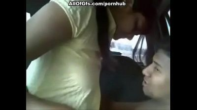 Indian girl with big boobs fucked in car - 11 min