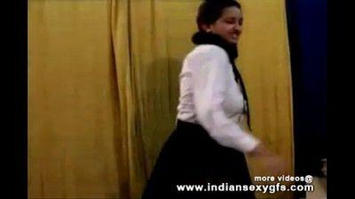 Horny Hot Indian PornStar Babe as School girl Squeezing Big Boobs and masturbating Part1 - indiansex - 14 min