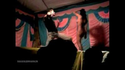 Desi Bhabhi Dances Nude on Stage in Public - 5 min