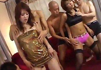 Oshima Karen in pink lingerie sucks dicks - 10 min