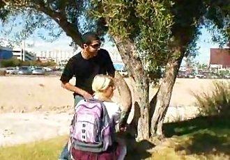 Blonde Asian teen Cayden Moore punished by her professor - 3 min