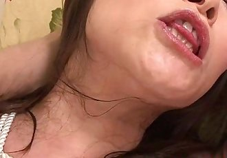 Milf tied up for his toy pleasure of her wet pussy - 6 min