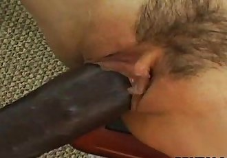 Smoking hot Asian bitch has a black cock to ride - 8 min