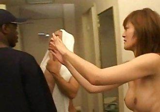 Japanese girl with jap guy and black guy JJJ-31 07 - 5 min