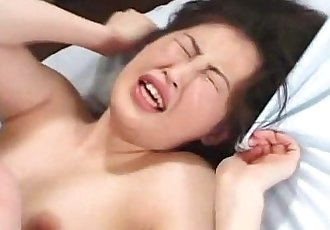 Two dudes ravaging Asian babes hot cunt - 8 min