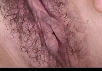 Petite Japanese babe enjoys double BJ action - 7 min