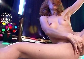 Asian stripper getting wild on the pole as she masturbates - 8 min HD