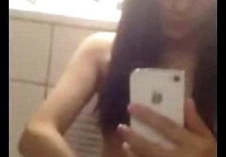 thai college girl selfshot fingering - 50 sec
