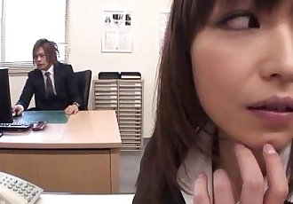 Lady Tsubaki is a sexual freak who gets creamed at the office - 1 min 8 sec