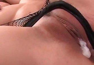 Nene Azami enjoys jizz over her huge tits - 12 min