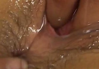 Megumi Haruka is oiled and pumped in beaver - 10 min