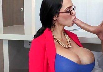 Busty milf femdom sucks before fucking sub - 7 min