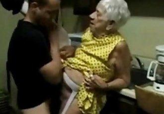 Granny 91 yo fucking boy 21 yo - 3 min
