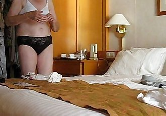 Granny Jenny undresses and removes her soiled incontinence pad from her knickers - 3 min