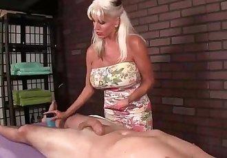 Huge-Titted Granny Handjob - 5 min HD