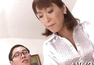 Bitch milf deepthroats one-eyed monster and balls - 5 min