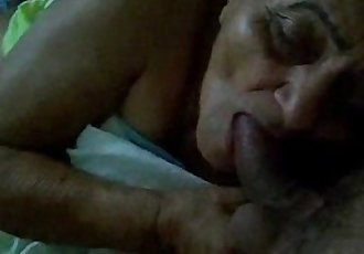 Old maid sucking my cock for extra money - 7 min