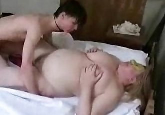 I paid a horny student to fuck my old wife. Amateur - 2 min