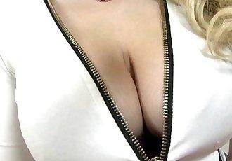 Busty blonde MILF takes a huge cockHD
