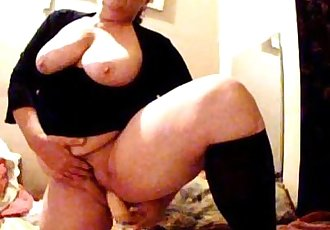 Dildo solo 49 years BBW housewife with big boobs - 7 min