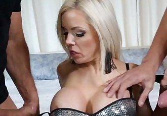 True MILF Nina Elle Takes 2 cocksHD