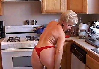 Very sexy grandma has a soaking wet pussy - 9 min
