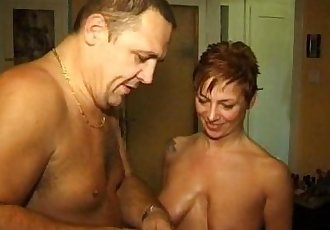2 Austrian milfs and a guy in some really kinky action