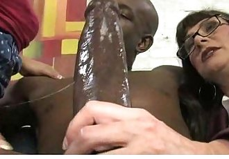 Huge black monster cock fucks white wet pussy 15 - 5 min