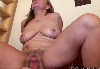 OLD GRANNY WITH YOUNG BF !! - 6 min HD