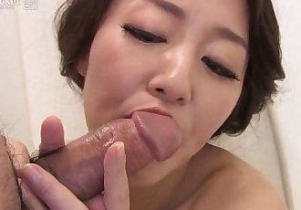 41Ticket - Japanese Mature Masturbates and Sucks Cock in Shower - 5 min HD+