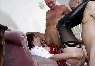 Stockinged schoolgirl mature amateur babe