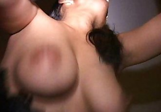 Black guy fucks MILF Mia with her tits swinging in kitchen and bed