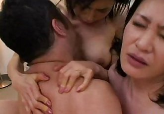 Oriental MILFs love sharing young cock - 6 min