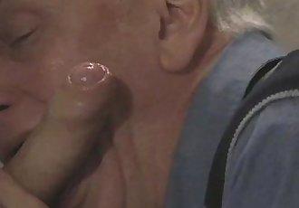 Daddy Sucking Big Cock Through The Gloryhole