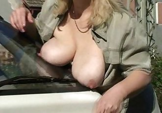 Great scandal when she finds him fucking her mom - 6 min