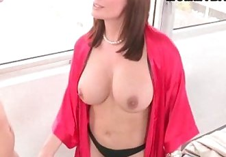 Abby Cross caguth her stepmom Diamond Foxxx fucking her BF - 5 min