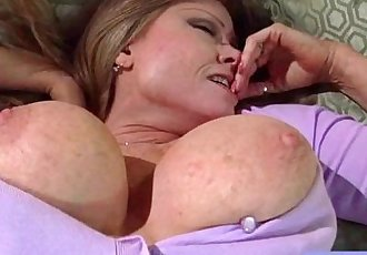Hardcore Action With Superb Big Melon Tits Mommy video-13