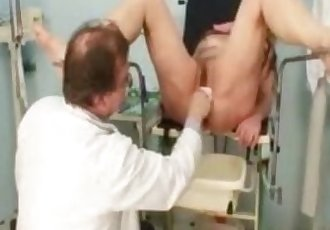 Mature Stazka gyno fetish real exam at kinky gyno speculum clinic