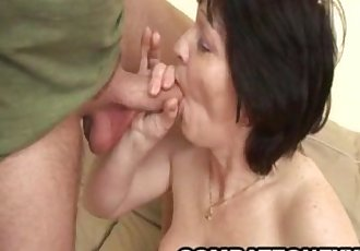 Mature euro babe Eva satisfying her pussy with rough sex