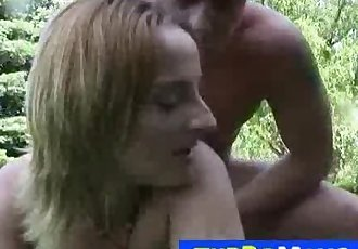 Blonde cougar from Hungary Dora G outdoor sex games
