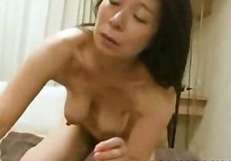 Akiko Oda - Hot Japan Granny Pussy Splurged With Sperm