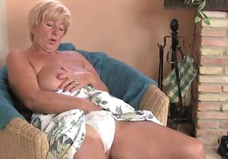 Chubby Grandma Masturbates With Her Fingers And A Vibrator