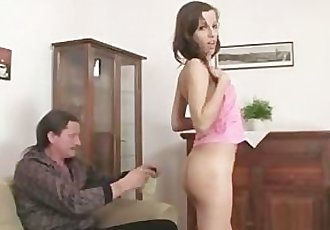Naughty girl have oral fun with her BF\
